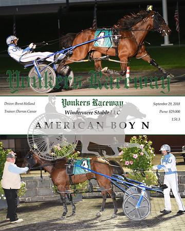 20180929 - Race 9 - AMERICAN BOY N