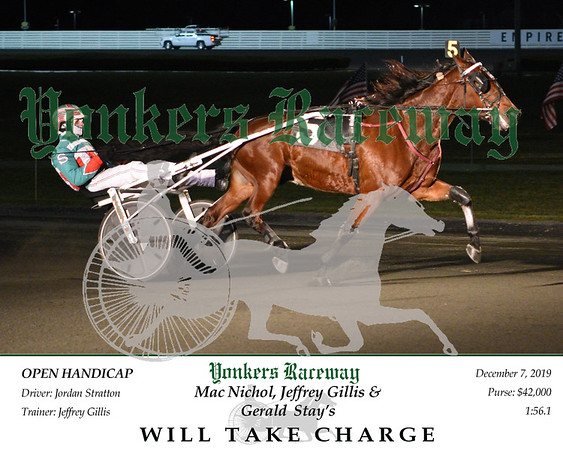 20191207 Race 6- Will Take Charge 1