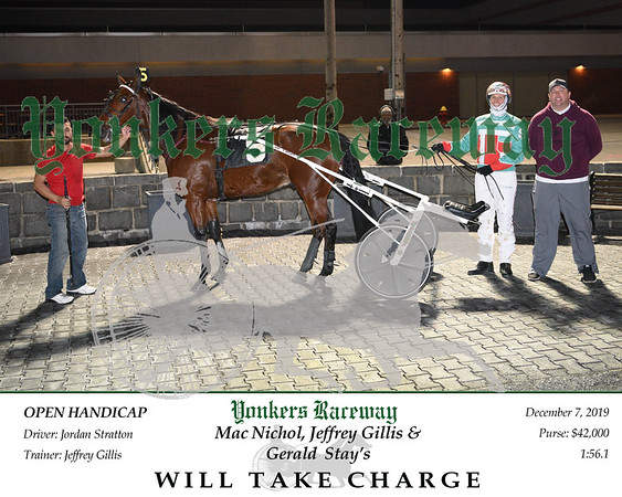 20191207 Race 6- Will Take Charge 2
