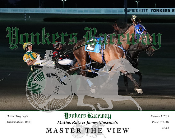 20191001 Race 1- Master The View 2