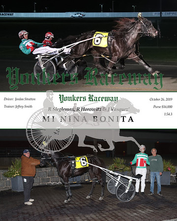 20191028 Race 5- Mi Nina Bonita