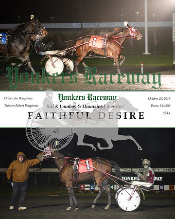 20191029 Race 5- Faithful Desire