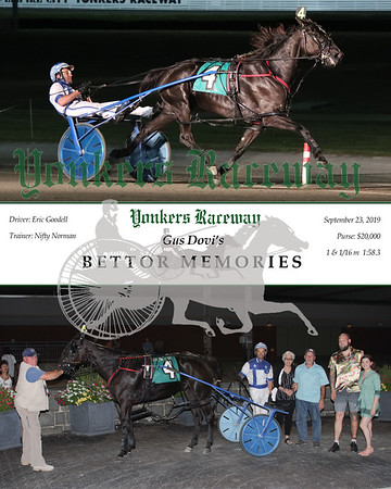 20190923 Race 8- Bettor Memories