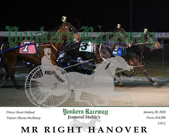 20200120 Race 9-Mr Right Hanover