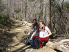Rachel and Sarah on the trail up to Old Rag