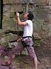 Clinton belays Kurt at Franklin Rocks