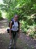 Rachel on the trail.