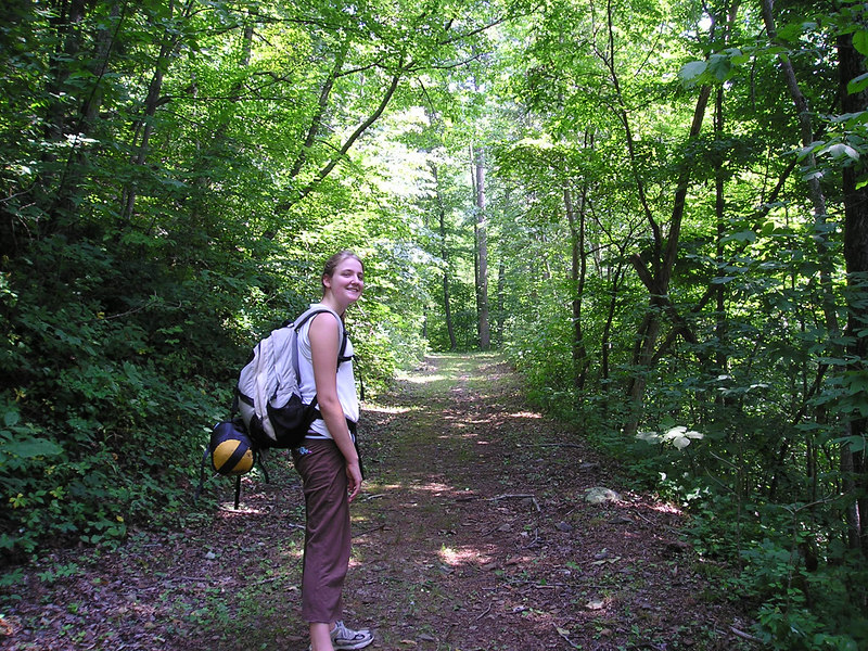 Sarah and I went hiking along the North Fork of the Moormans River in Shenandoah National Park.