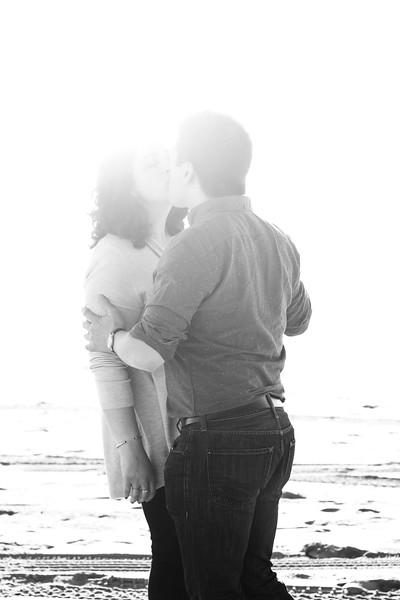 Rachel and Matt Engagement  - B&W