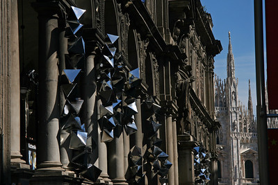 Shot of the outside of a museum on the way to the Duomo.