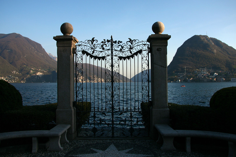 A gate in Parco Civico