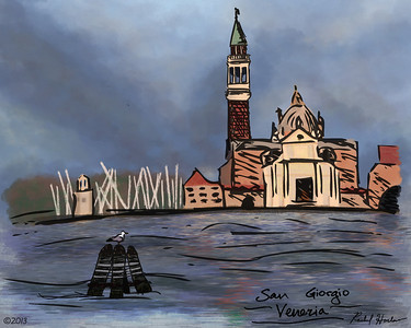 Digital painting of some sketches I did while in Venice. Painted in Photoshop when I returned to the States.