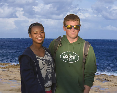 Zachary and Monique on Vacation (via green screen)