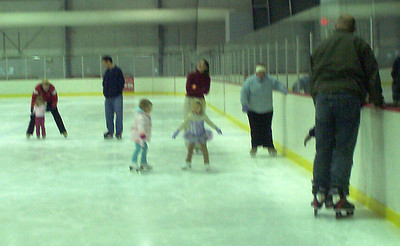 The group had the entire rink all to themselves.