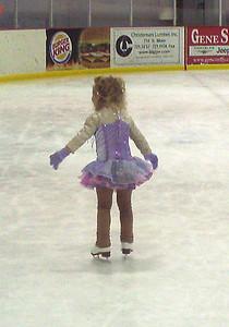 Rachel on the ice.