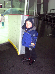 Cousin Josh gets ready to skate.