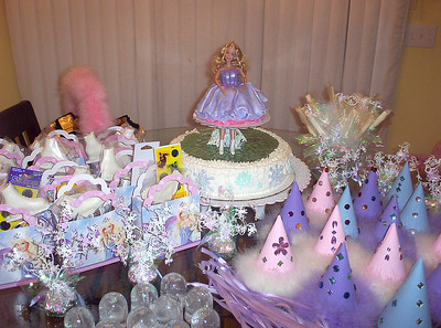 Every birthday party needs fun favors, treats and other supplies! Here are Rachel's birthday cake, favor boxes, party hats and more.