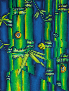 Bamboo with cubism - best ordered in a 5x7 or 8x10 format