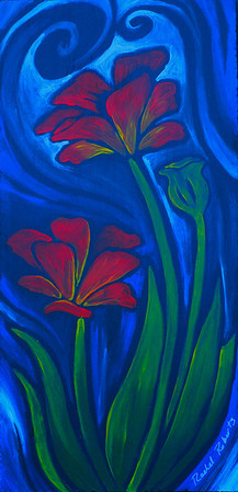 Petal Dream -  Acrylic on hardboard