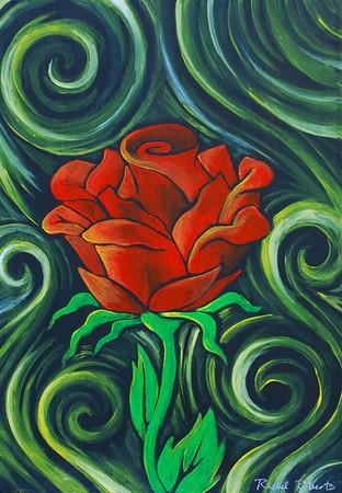 Rose -  Acrylic on hardboard