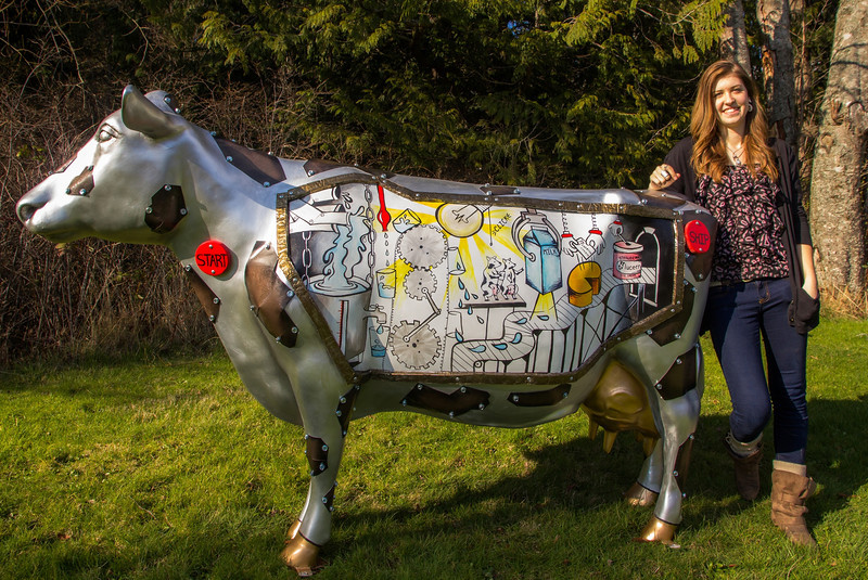 The Moochanical Moochine - Rachel's Art of Dairy competition cow