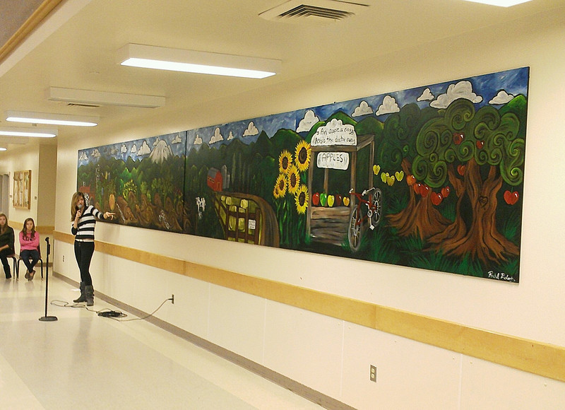 Mural painted for Fairhaven Middle School in Bellingham, WA.