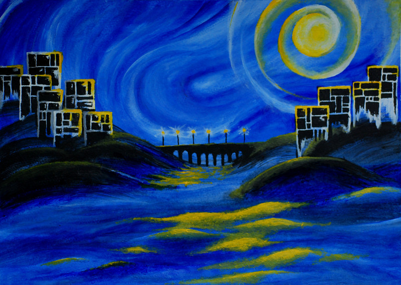 Moonlit Village