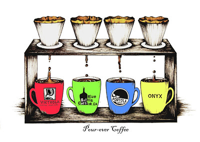 Pour-over Coffee: Color My Coffee