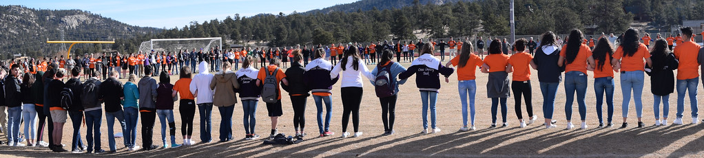 . Rachel�s Challenge Day at Estes Park high School. Courtesy of Samuel Lawrence Leonard