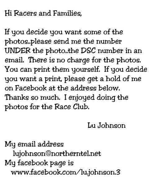 DSC number for racing photos