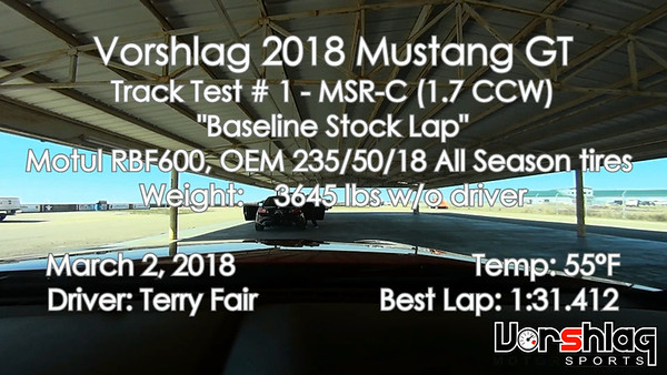 In-Car video from Track Test # 1