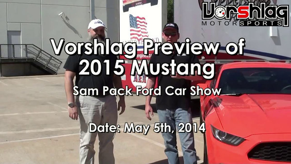 Vorshlag's 8 minute video walk-around of a Pre-Production 2015 Mustang, inside and out