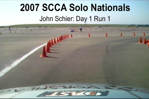 John Scheier (spelled wrong in video!) first run from SCCA Solo Nationals in the Vorshlag E36 M3, STU class. This was Fair's first attempt at editing/uploading a video. Camera used was a GoPro Hero 3, mounted on the roof with a homemade suction cup mount (thanks, Costas!)