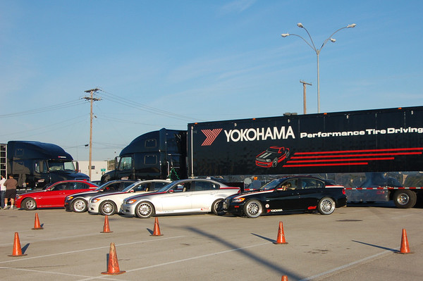 Yokohama brought out their support trucks to this event, filled with tires and tire changing machines, as well as the cars.
