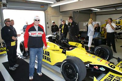 Larry Hughey in Sarah Fishers Garage