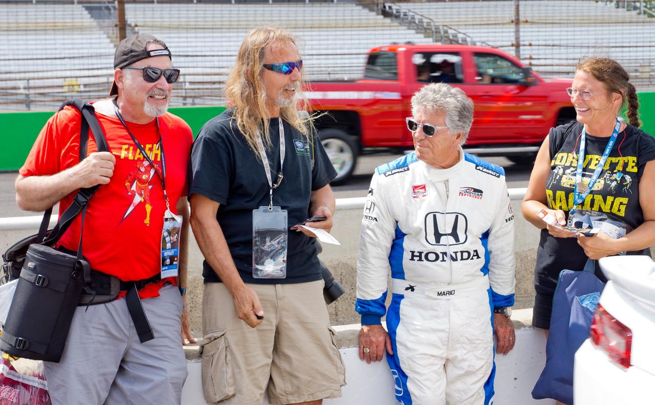 Larry Hughey with Mario Andretti