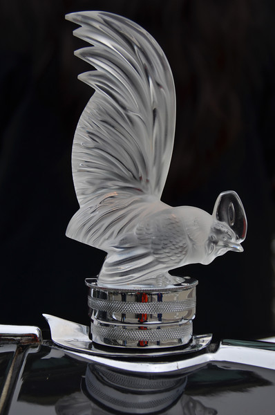 French designer Rene Lalique's mascot, likely a copy as originals are worth as much as the automobiles