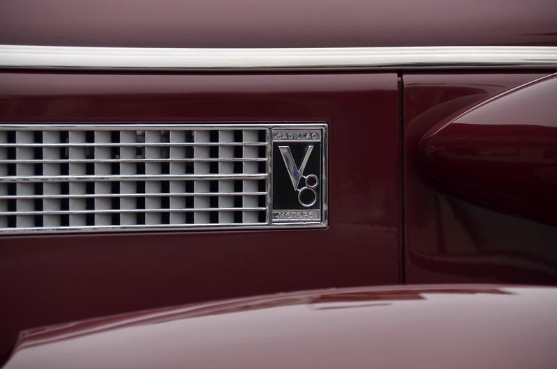 Cadillac hood side emblem