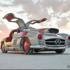 "Benz ""gull wing - no museum for me, I want to runn 193 mph on the salt."""