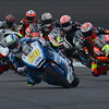 Moto3 group in Turn 2, 2013 Indianapolis MotoGP