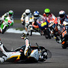 Moto2 crash in Turn 2, Indianapolis MotoGP 2013