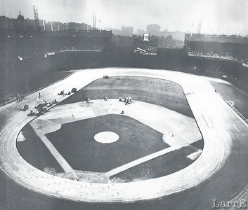Midget racing on the board track in New York's Polo Grounds was not successful so it was dismantled and sent to the Rose Bowl where it was also a disappointment. Unlike Nutley and Coney Island in was flat and unexciting. — at New York, NY.