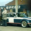 Keith Fell, Ralph Broad and Andy Rouse pose with the new Jaguar XJ12 racer.