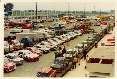 Parc ferme at Nivelles, European Touring Car Championship race