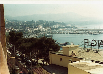 A view from my hotel room over Bandol harbor and sea front. Jackie Stewart and his family were staying at the same hotel (Jackie was driving one of the Cologne Capris that weekend).