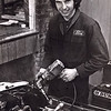 Andy started off as a race mechanic, here he is working on the 2 litre Escort