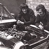 Ian & Andy share a moment viewing this powerfull challenger for the British touring car Championship