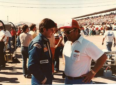 Billy & Frank Arciero chat at Phoenix Raceway.