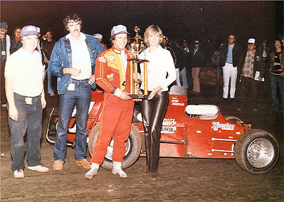 Ron Shuman takes the win and the Trophy at Ascot Park with Cosworth BDP power.