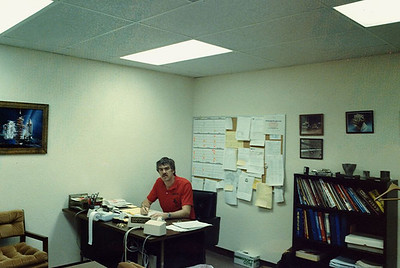 When Larry left, Ian took over his position in the front office. This was it in those days! (no computers!). The phone had a big separate squawk box for hands free conversations.